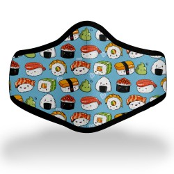 Cute Sushi Pattern Mask